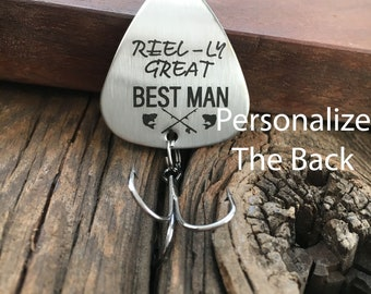 Best Man Gift Reel-Ly Great Best Man Fishing Lure Gift Personalized Wedding Gift For Best Man Fishing Lure Gift For Fisherman Lure Gift