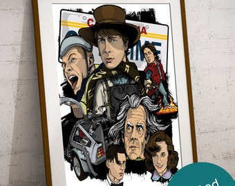 Back To The Future Movie Art Print -  Limited Poster - Signed By Artist