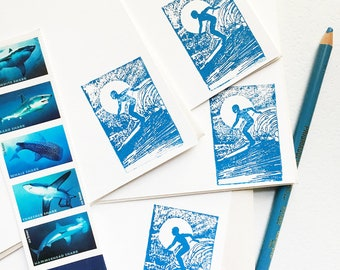 Surfer Note Cards