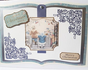 Large A4 Book Style  Christmas Card - Mum, Dad, Wife, Husband, Sister, Nan, etc