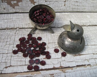 buttons tasty cranberry set of 40