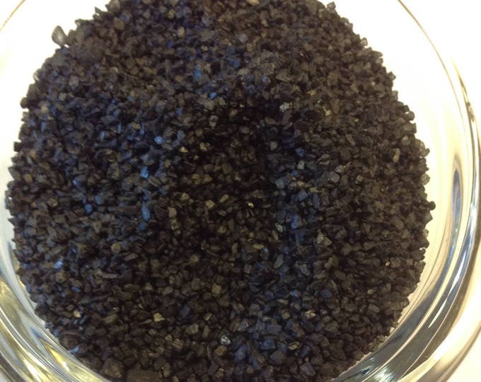 1/2-4 oz Black Lava Salt Organicn fair trade  Great Finishing Salt
