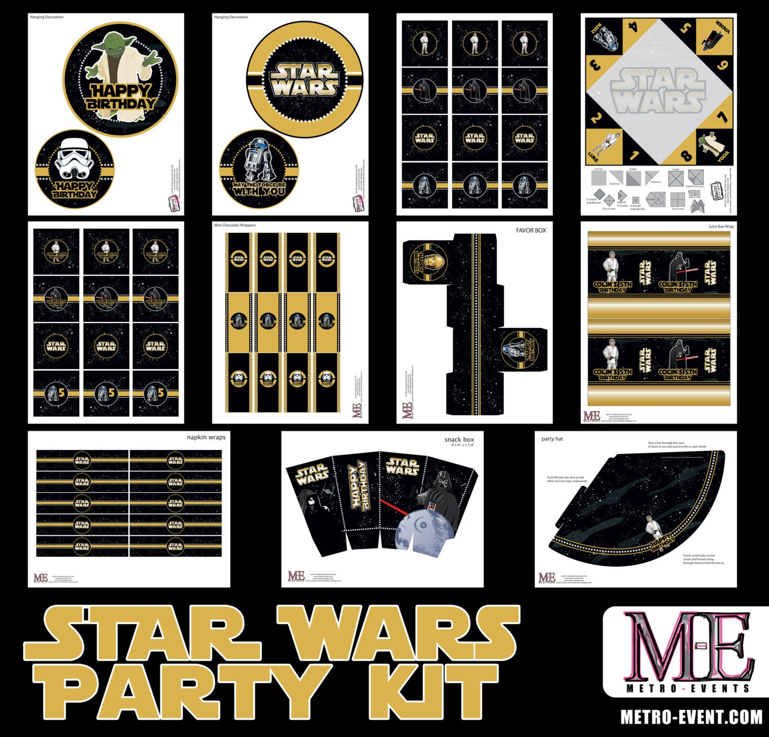Star Wars Party Decorations Star Wars Instant Download