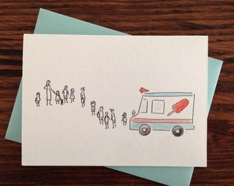 neighborhood ice cream truck line