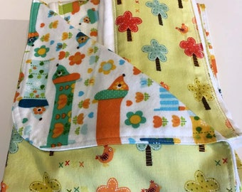 Newborn Gift Set - Hot Dogs Blanket/Burp Cloths - Quiltsy Handmade