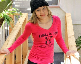 SALE - Pit-Bull Shirt in Pink - BSL Breed Specific Legislation - Women - Sizes S - XL