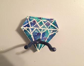 Diamond guitar or ukulele wall mount/hanger