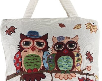 Colorful Style Thai Womens Two Owl Hobo Bag Shoulder Bag