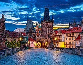 Czech Republic - Prague - Charles bridge and Mala Strana Tower - SKU 0069