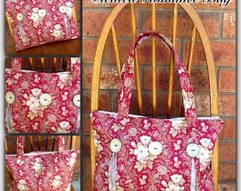 Bag Pattern - Pleated Romance Bag - pdf pattern