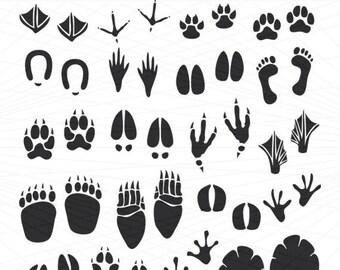 Footprint Clipart Animal Tracks Clip Art Bare Footprint