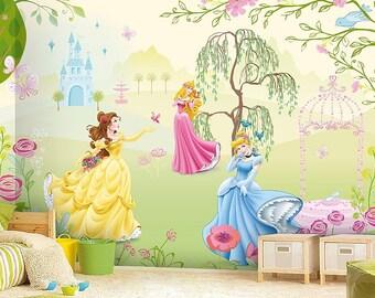Princess Wall mural, Wallpaper, Wall décor, Wall decal, Nursery and room décor, Wall art