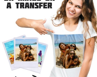 Your Photo or Image Iron On Transfer - Personalised T-Shirt Transfers
