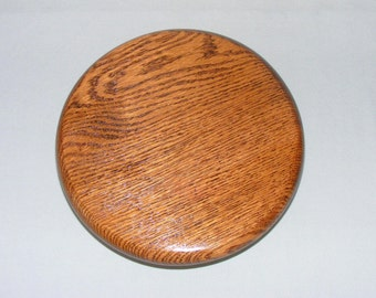Small 8 Inch Dark Oak Lazy Susan.  Free Shipping