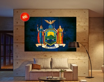 new york state flag  canvas new york state flag wall decoration new york state flag canvas art new york state flag large canvas