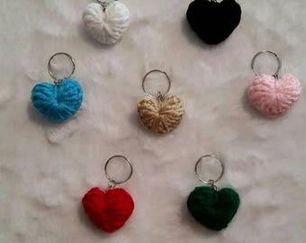 Keychain Crochet Hearts