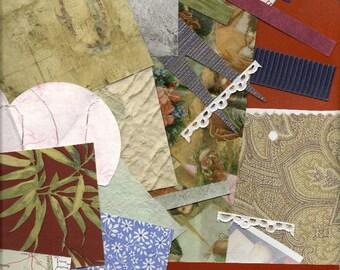 Collage Paper, Scrap Paper Pack, Paper Ephemera, Grab Bag Paper Scraps, 3 Large Ounces for DIY Paper Arts, Scrapbooking, Decoupage PSS 0413