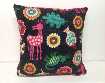 Decorative Pillow, Pillow Cover, Accent Pillow, Whimsical Pillow, Bedding, Animal Print, Pink, Velvet, Throw Pillow, Pillow,