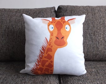 Giraffe - Vegan Suede Cushion
