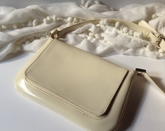 Liz Claiborne Mini Cross Body / Shoulder Bag / Cream Color