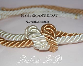 "Fisherman's knot Wedding Ceremony, Knot wedding ceremony, two cords, Wedding 3/8"" cords"