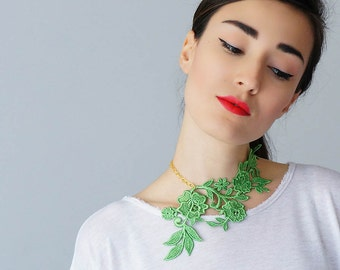 Necklace Lace Necklace Statement Necklace Floral Necklace Women Accessory Gift For Her Woman Fashion GiftCustom/ LASATA