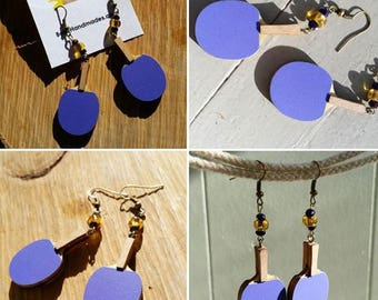Ping Pong / Table Tennis Paddle Earrings