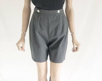 Vintage 60's Lantz Wool High Waisted Shorts. Size X Small