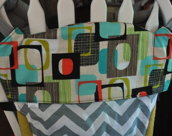 CLEARANCE! Geometric Tula Topper, Tula Bib, Drool and Chewing Protection for your Tula. Ready to Ship. Coordinates with many Tula prints.