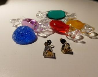 Gold leaf resin earrings
