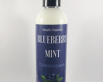 Blueberry Mint Conditioner | Natural Hair Care Product | Curly Hair Conditioner | Vegan |  Moisturize Dry Hair