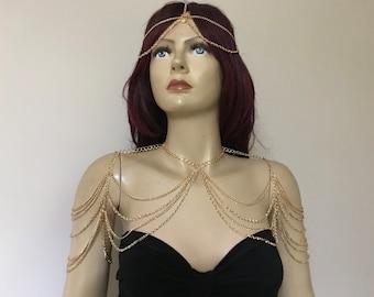 Gold shoulder chain