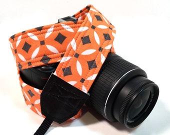 DSLR Camera Strap, Orange Camera strap, Nikon Camera Strap, Canon Camera Strap, Graduation Gift, Wedding Gift, Travel