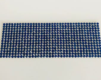 Plate of 504 stickers 5mm blue rhinestones
