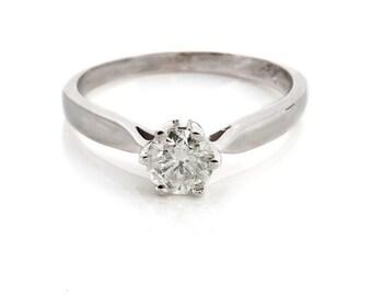 Diamond solitaire ring-Solitaire diamond engagement ring-Wedding ring-Solitaire rings-Promise ring-Wedding & Engagement-Braided ring-For her