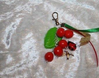 Cherry jewelry bag