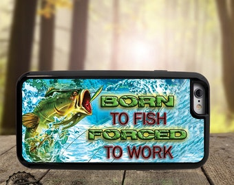 Born to fish phone case - Camo Pride Samsung S5 - Hunting and Fishing phone cover - Iphone 6 Plus fishing cover