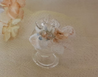 Miniature glass container 1:12 scale