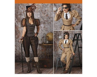 Simplicity 8114 Misses' Steampunk Costume Sewing Pattern