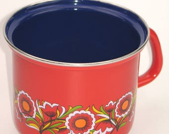 Vintage 70s milk pot made of enamel (condition like new !!!)