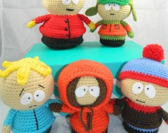 South Park Plush Dolls - South Park Amigurumi