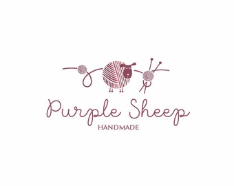 Sheep Logo, Embriodery Logo, knitting logo, crochet logo, wool logo, Kids Logo Fashion Logo, customized logo, premade logo design