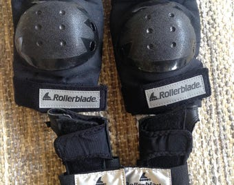 Rollerblade knee and wrist protectors, excellent brand, hardly used, size SM