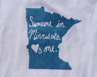Someone in Minnesota Loves Me baby bodysuit