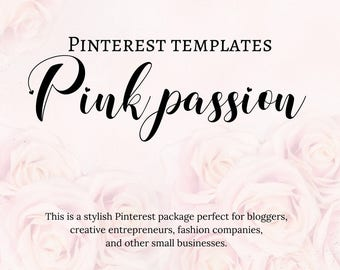 Pinterest templates - Pink Passion