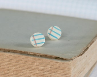 Mini Notebook Round Earrings
