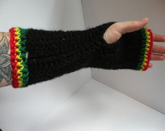 Pair of Rasta Wrist Warmers *Handmade*