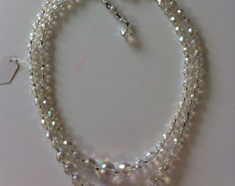 Double-strand crystal neclace