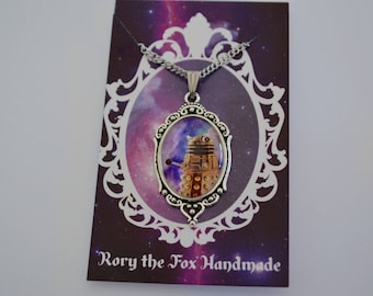Doctor Who inspired Dalek galaxy necklace
