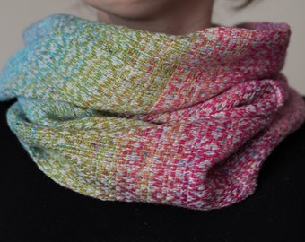 Echeveria Collection - Handwoven, hand dyed, two of a kind luxury Cowl